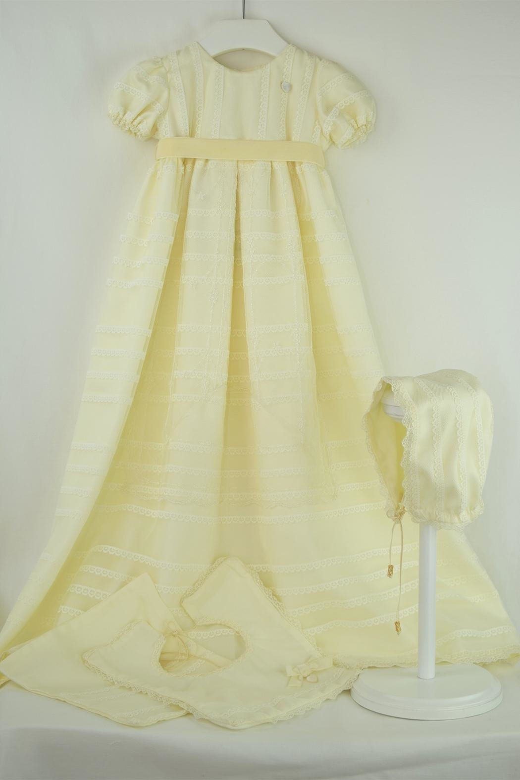 Cuore Baby Ivory Baptism Gown - Main Image