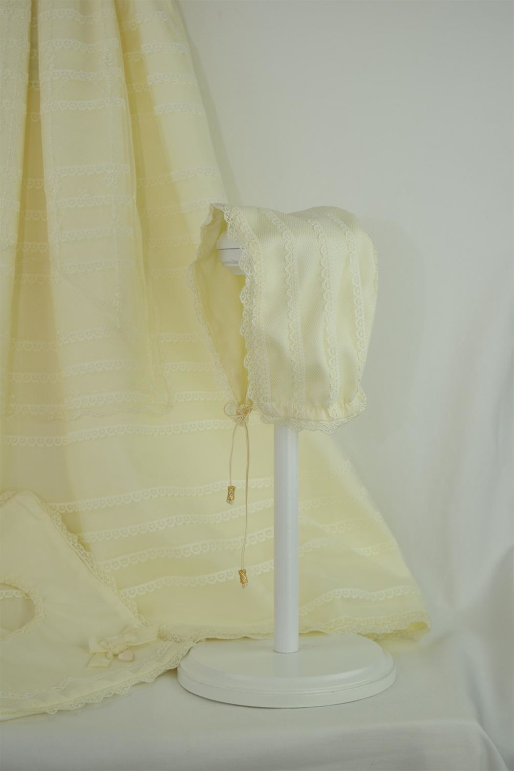 Cuore Baby Ivory Baptism Gown - Back Cropped Image