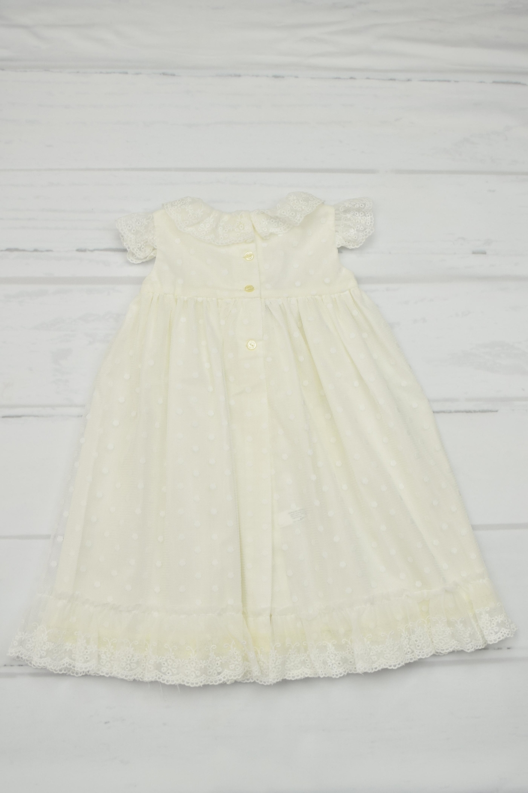 Granlei 1980 Ivory Baptism Gown - Front Full Image