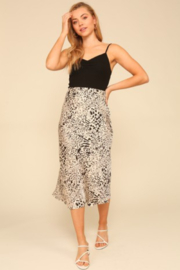 Timing Ivory/black Animal Skirt - Product Mini Image