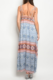 Pink Owl Ivory Blue Maxi - Front full body
