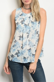 Alythea Ivory Blue Top - Front cropped