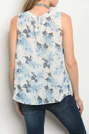 Alythea Ivory Blue Top - Front full body