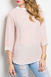 Shop The Trends  Ivory Blush Top - Product Mini Image