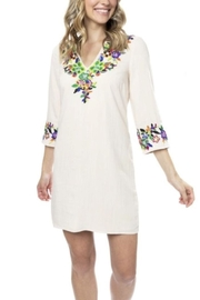 Julie Brown NYC Ivory Botanica Rayon and Linen Dress - Product Mini Image