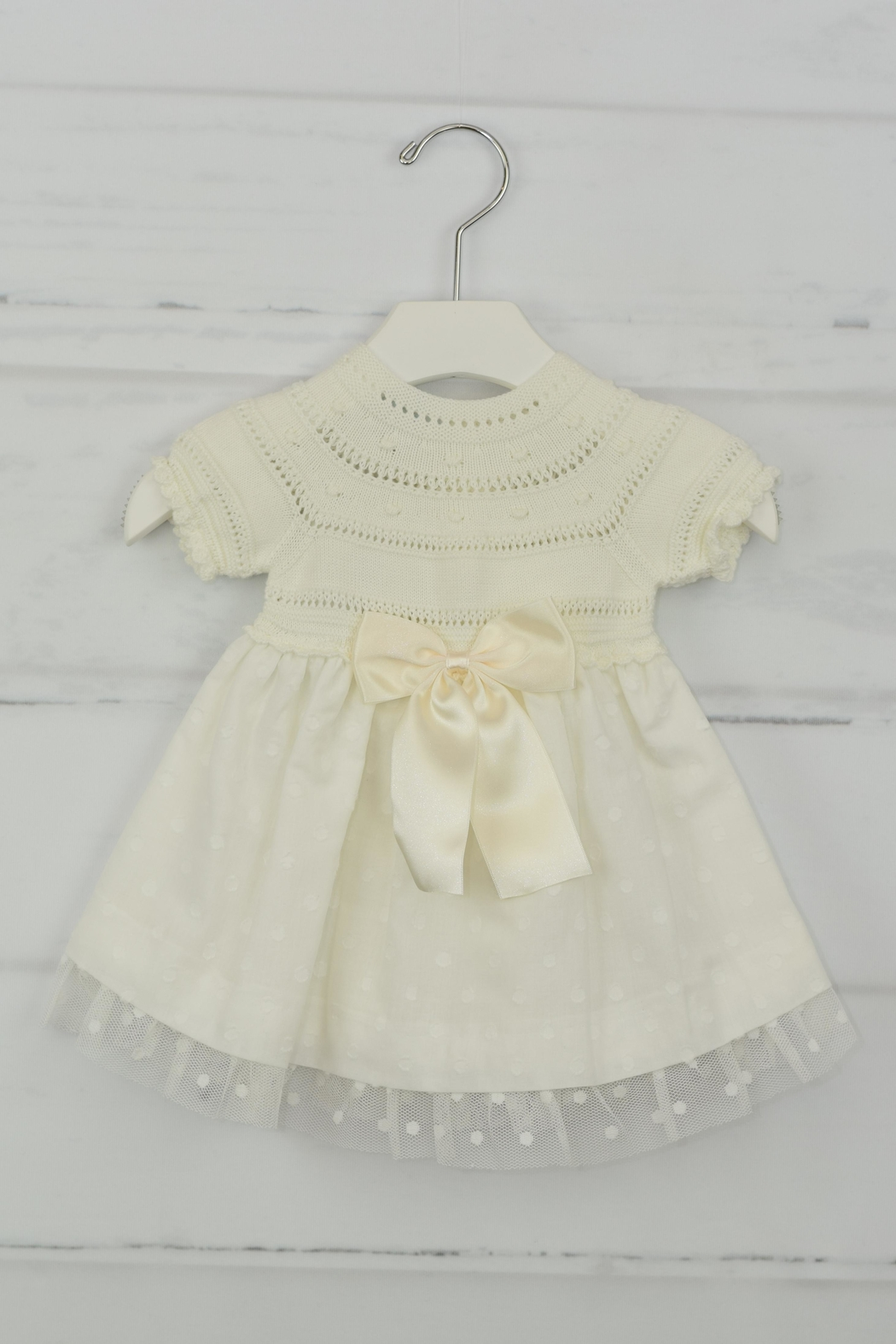 Granlei 1980 Ivory Bow Dress - Main Image