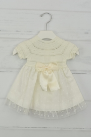 Granlei 1980 Ivory Bow Dress - Front cropped