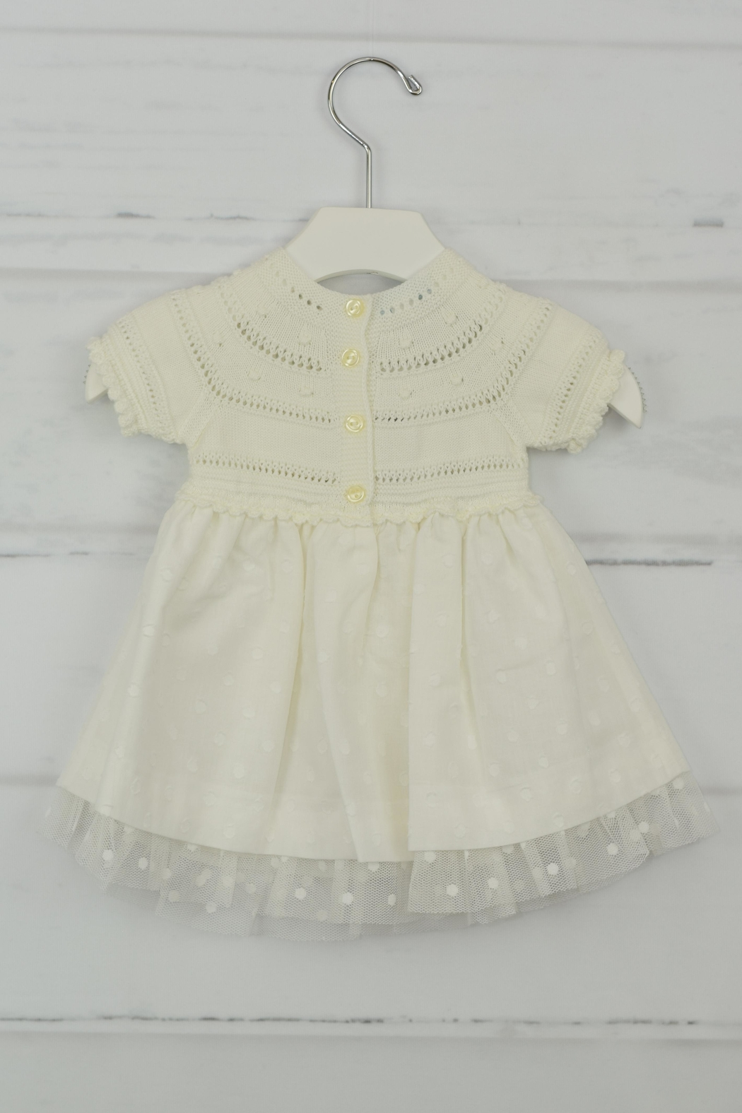 Granlei 1980 Ivory Bow Dress - Front Full Image