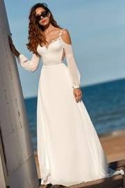 Rima Lav Ivory Cold Shoulder Bridal Gown - Product Mini Image