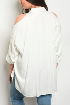 Dazz Ivory Cold-Shoulder Shirt - Alternate List Image