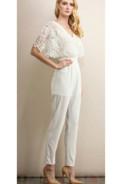 Soieblu Ivory Crochet Pantsuit - Alternate List Image