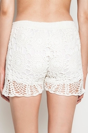 People Outfitter Ivory Crochet Shorts - Front full body