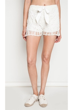 Shoptiques Product: Ivory Crochet Shorts