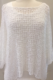 Marble Ivory crocheted over sweater with three-quarter sleeve - Product Mini Image