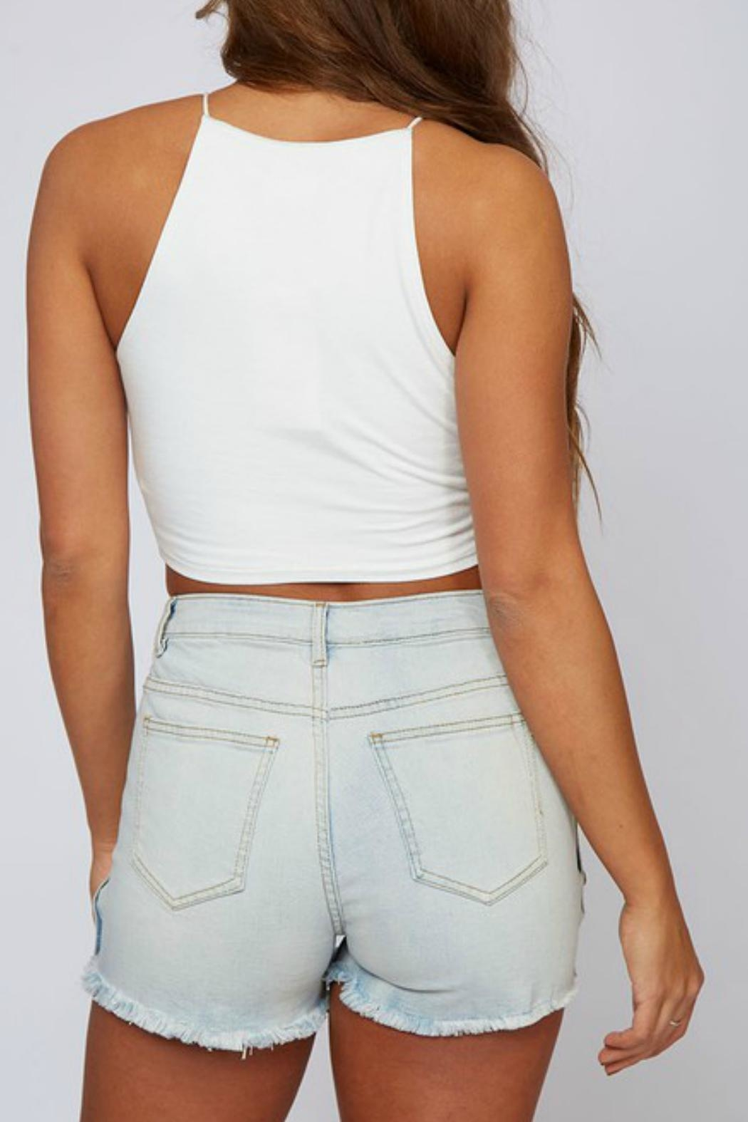 Peach Love California Ivory Crop Top - Side Cropped Image