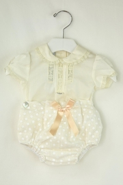 Foque Ivory Dots Baptism - Front cropped