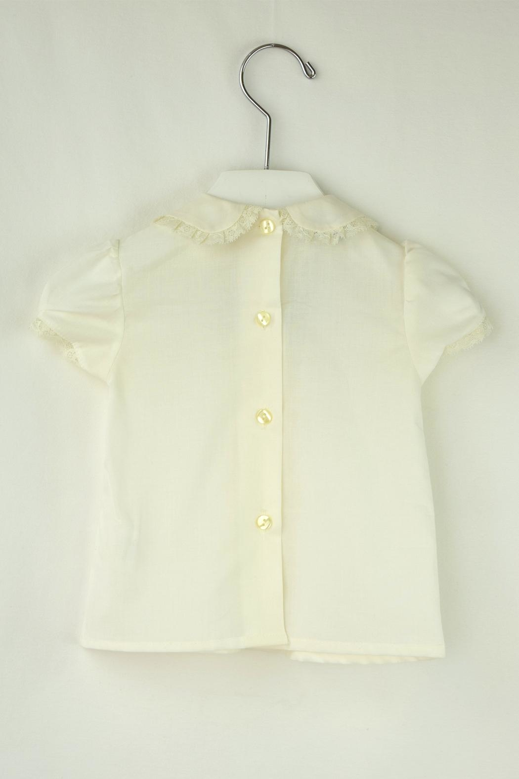 Foque Ivory Dots Baptism - Front Full Image