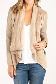 Blank NYC Ivory Drapey Jacket - Product Mini Image
