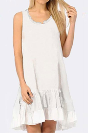 Apparel Love Ivory Dress with Ruffles - Product Mini Image
