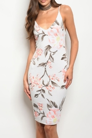 Bo Bel Ivory Floral Dress - Product Mini Image