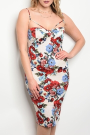 Auditions Ivory Floral Dress - Product Mini Image