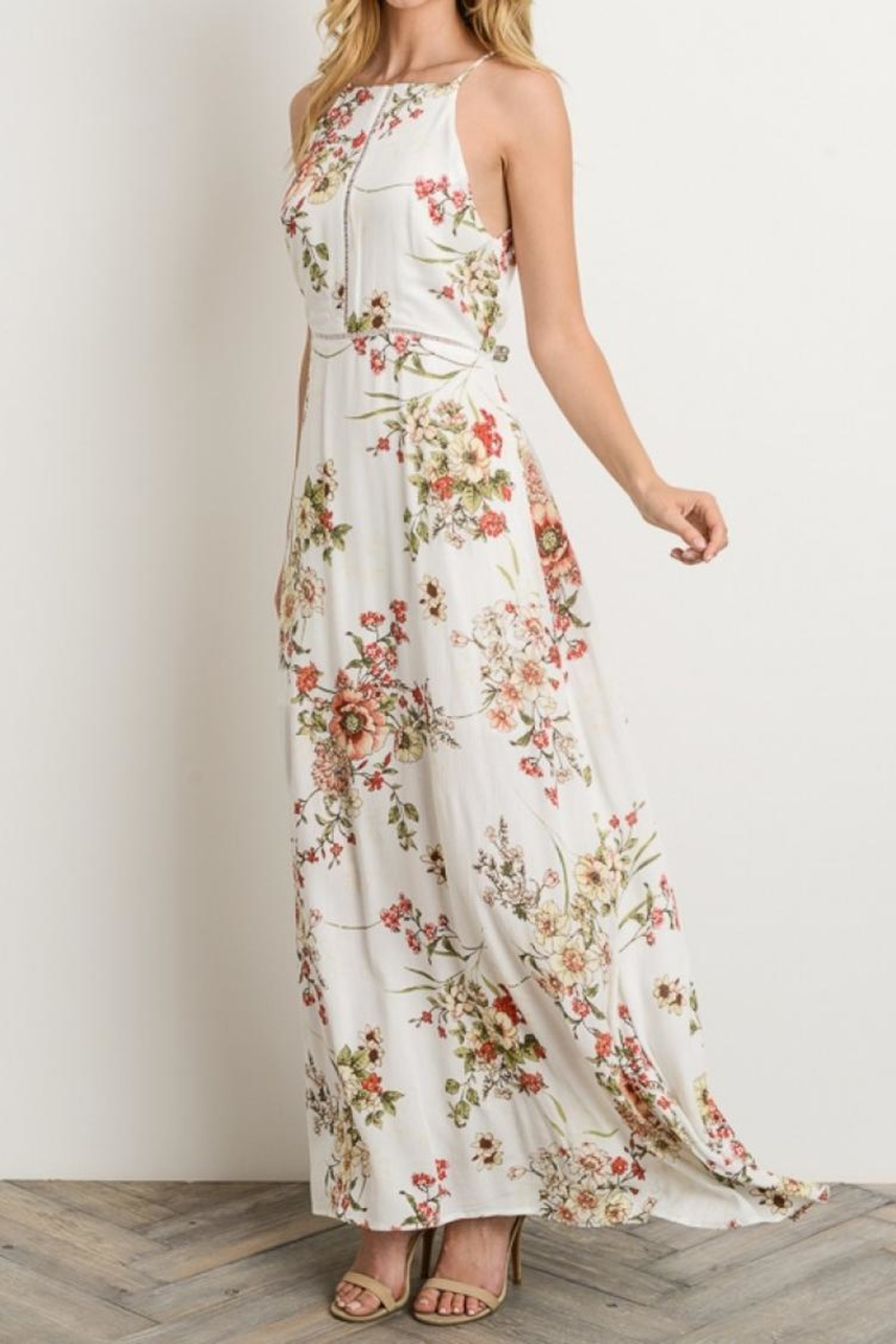 bd86689ab8ba Gilli Ivory Floral Maxi-Dress from Virginia by Sweetest Stitch ...
