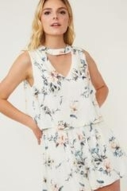 Peach Love California Ivory Floral Romper - Product Mini Image