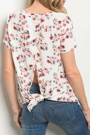 rokoko Ivory Floral Top - Front full body