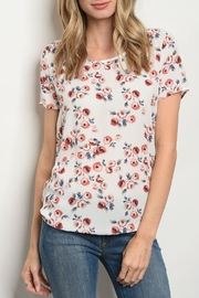 rokoko Ivory Floral Top - Product Mini Image