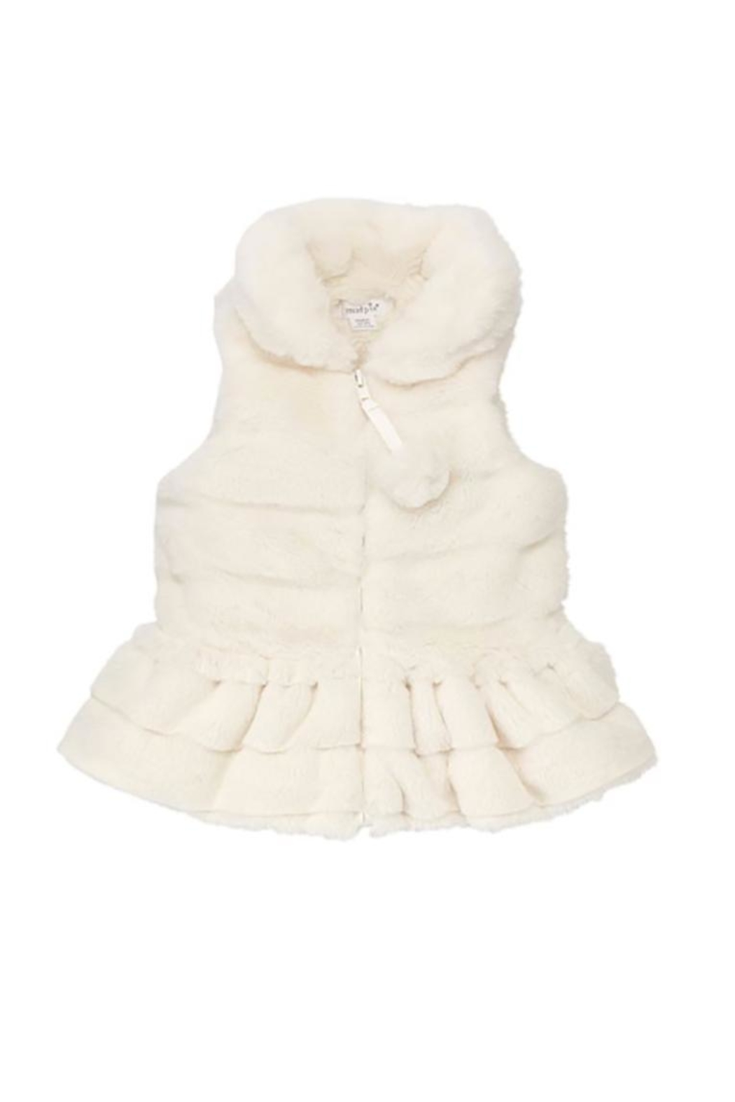 Mud Pie Ivory Fur Vest - Main Image