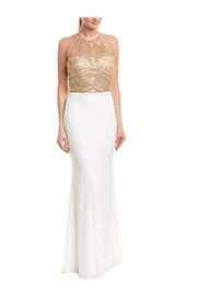 Issue New York Ivory/Gold Evening Gown - Product Mini Image