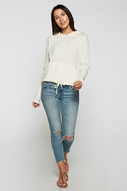 Lovestitch Ivory Hooded Top - Product Mini Image