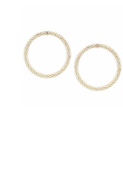 US Jewelry House Ivory Hoop Earrings - Product Mini Image