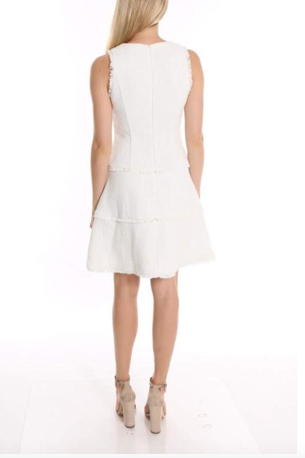 LIKELY Ivory Jewel Dress - Front Full Image