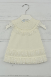 Granlei 1980 Ivory Knitted Dress - Front cropped