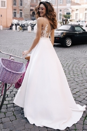 Rima Lav Ivory Lace Insert Bridal Gown With Detachable Train - Other