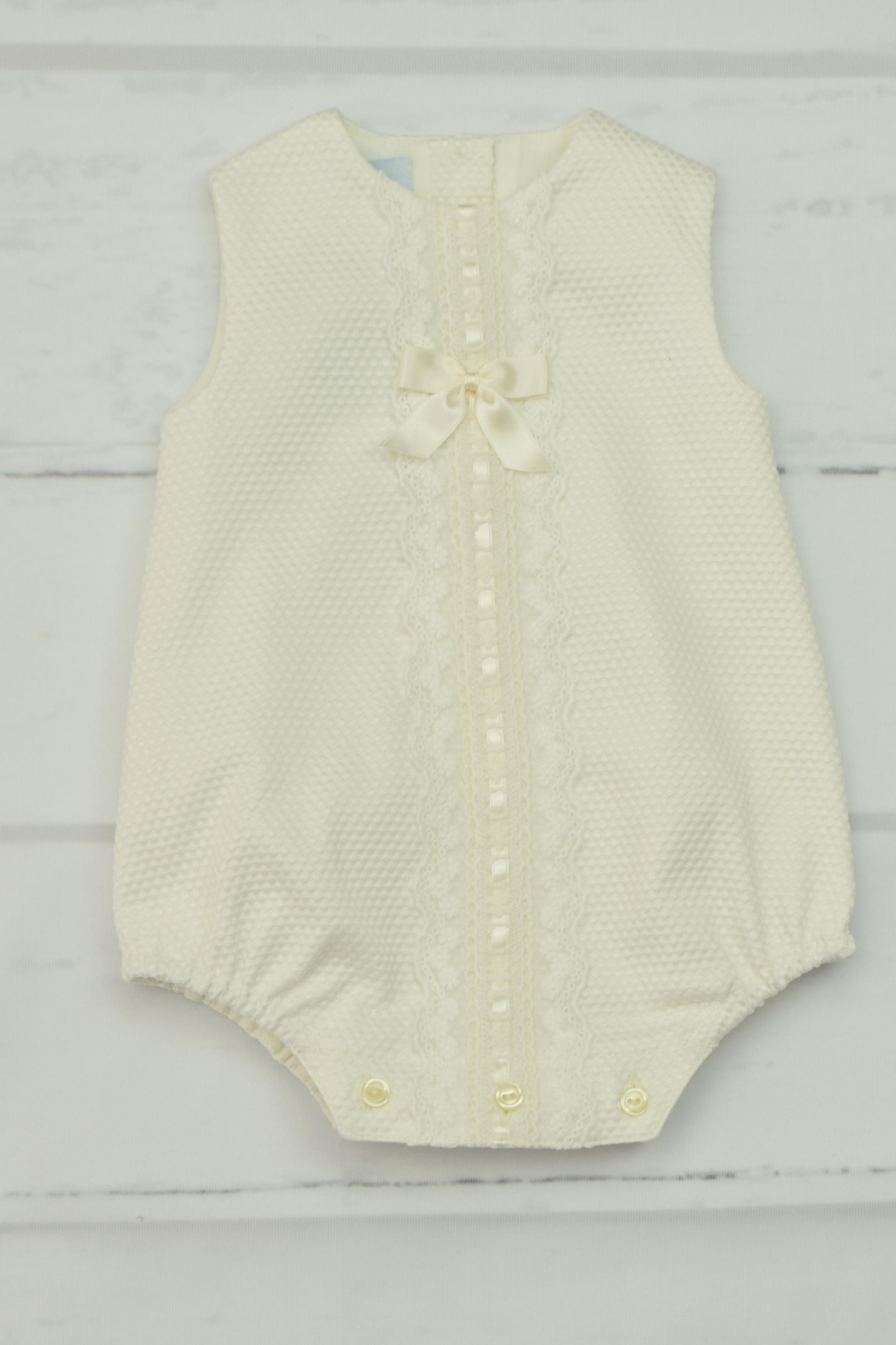 Granlei 1980 Ivory Lace Onesie - Front Cropped Image