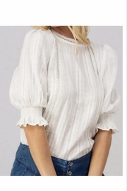 Love Collette Ivory Lace Puff Sleeve Blouse - Product Mini Image