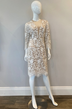 Shoptiques Product: Ivory Lace short dress