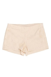 Judith March Ivory Lace Shorts - Front full body