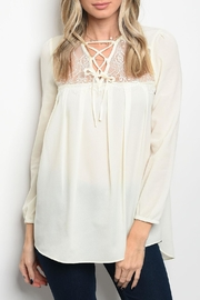 Chloah Ivory Lace Top - Product Mini Image