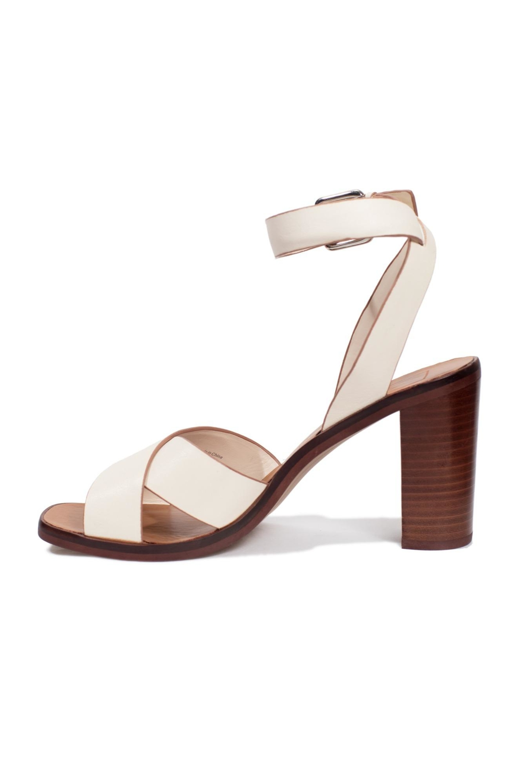 Dolce Vita Ivory Leather Heel - Front Cropped Image