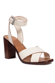 Dolce Vita Ivory Leather Heel - Back cropped