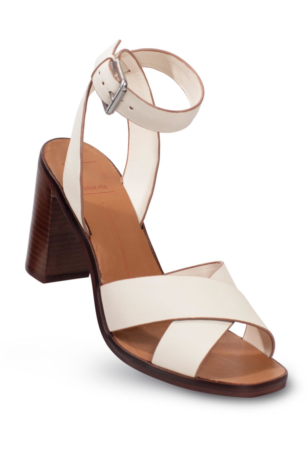 Dolce Vita Ivory Leather Heel - Side Cropped Image