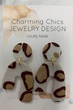 Charming Chics Ivory Leopard Earrings - Alternate List Image