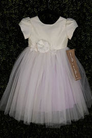 vainilla y avellana Ivory Lilac Tulle - Front cropped