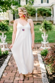Izzie's Boutique Ivory Maxi Dress - Front cropped