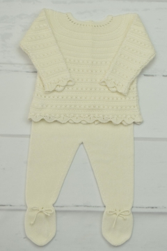 Shoptiques Product: Ivory Newborn Outfit