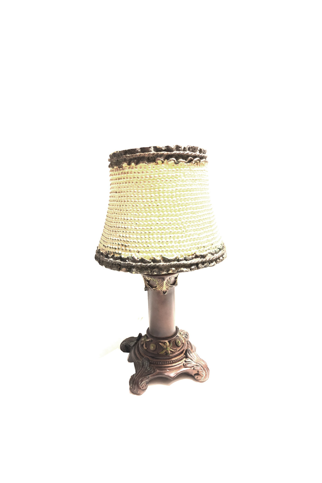 House of Zog Ivory Pearl Candle Lamp - Main Image