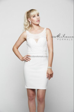 Shoptiques Product: Ivory Pearl Cocktail Dress